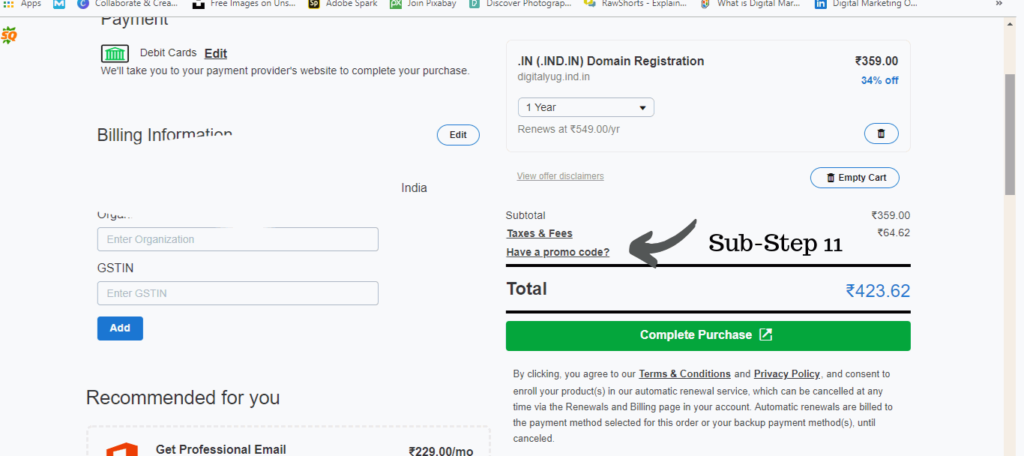 How to create a account in godaddy